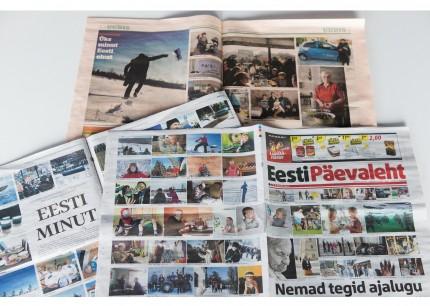 Eesti Minutile laekunud tööd suurtes päevalehtedes.